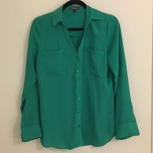 Express Portofino Shirt Kelly Green medium